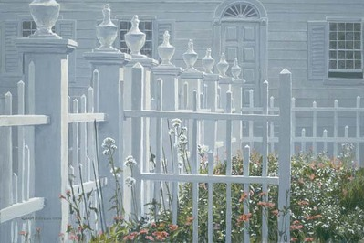 Colonial Garden- Signed By The Artist								 – Canvas Giclee – Limited Edition – 40 A/P – 16 x 24