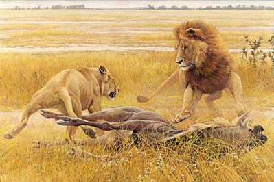 Dispute Over Prey- Signed By The Artist – PaperLithograph – Limited Edition – 56A/P – 20 5/8x31 –