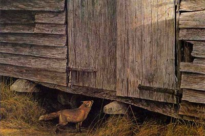 Fox At The Granary- Signed By The Artist – PaperLithograph – Limited Edition – 950S/N – 16x23 1/4