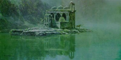 Hindu Temple – Tiger- Signed By The Artist – CanvasGiclee – Limited Edition – 180S/N – 22x44
