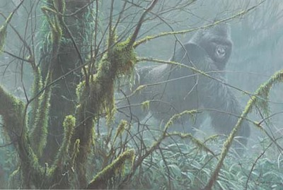 Intrusion – Mountain Gorilla- Signed By The Artist – PaperLithograph – Limited Edition – 2250S/N – 21 5/8x32 3/8