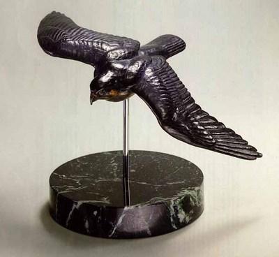 Peregrine In Flight – Bronze- SculptureBronze – Limited Edition – 90Limited – 63/4″ High –