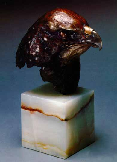 Red-Tailed Hawk Study – Bronze- Sculpture Bronze – Limited Edition – A/P – 10 1/2″ High