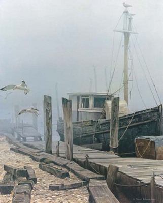 The Sarah E. With Gulls- Signed By The Artist – CanvasGiclee – Limited Edition – 180S/N – 30x24 –