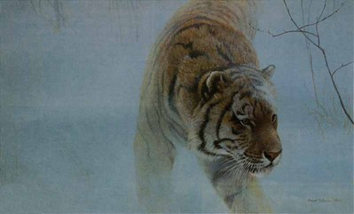 Twilight – Siberian Tiger- Signed By The Artist – PaperLithograph – Limited Edition – 1350S/N – 18x29 7/8 –