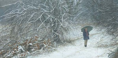 Winter Walk- Signed By The Artist								 – Paper Lithograph – Limited Edition – 76 A/P – 14 3/8 x 28 3/4
