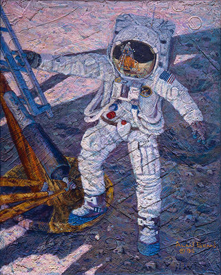 A Giant Leap (Apollo 11)- Signed By The Artist – CanvasGiclee – Limited Edition – 175S/N – 15x12 –