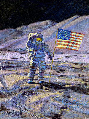Jim Irwin, Indomitable Astronaut (Apollo 15)- Signed By The Artist								 – Canvas Giclee – Limited Edition – 25 A/P – 12 x 9