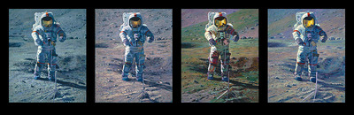Apollo Moonscape, An Explorer Artist's Vision- Signed By The Artist								 – Canvas Giclee – Limited Edition – 80 S/N – 16 x 40