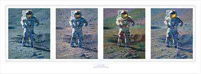Apollo Moonscape, An Explorer Artist's Vision- Signed By The Artist								 – Paper Giclee – Limited Edition – 200 S/N – 9 5/8 x 33 1/2