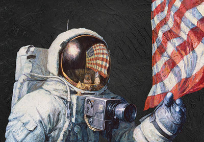 Beyond A Young Boy's Dream (Apollo 12)- Signed By The Artist – CanvasGiclee  – Limited Edition  – 125S/N  –  14x21