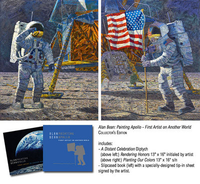 A Distant Celebration (Apollo 11)- Signed By The Artist – CanvasGiclee – Limited Edition – 225S/N – 16x13