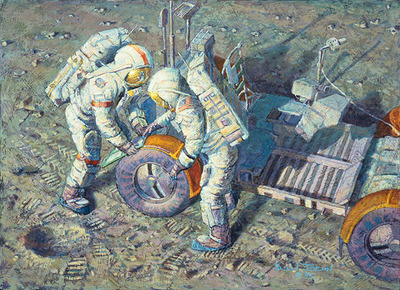 Fender Lovin' Care (Apollo 17)- Signed By The Artist – CanvasGiclee – Limited Edition – 25A/P – 10x14