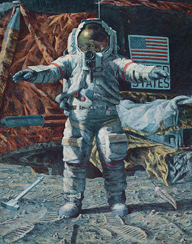The Hammer And The Feather (Apollo 15)- Signed By Astronaut/Artist Alan Bean & Astronaut Dave Scott								 – Paper Lithograph								 – Limited Edition								 – 60 A/P								 – 								25 1/2 x 20