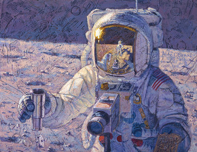 A New Frontier (Apollo 12)- Signed By The Artist – CanvasGiclee  – Limited Edition  – 150S/N  –  14x18