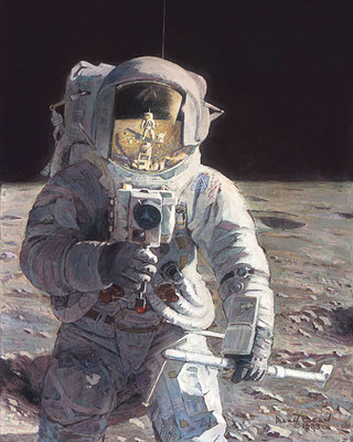 Pete And Me (Apollo 12)- Signed By The Artist								 – Paper Giclee – Limited Edition – 100 S/N – 12 1/2 x 10
