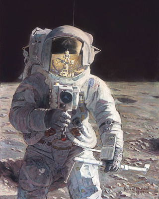 Pete And Me (Apollo 12)- Signed By The Artist								 – Paper Giclee – Limited Edition – 25 A/P – 12 1/2 x 10