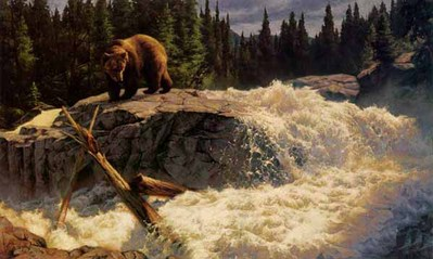 The Cascades- Signed By The Artist – CanvasGiclee – Limited Edition – 75S/N – 18x30