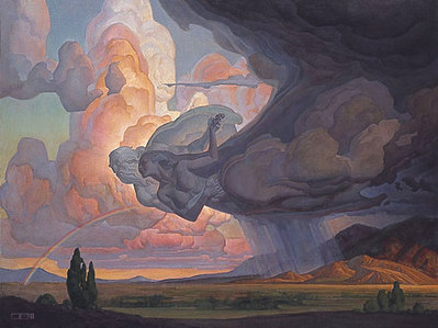 Dance Of The Wind And The Storm- Signed By The Artist – PaperLithograph  – Limited Edition  – 850S/N  –  24x31 3/4