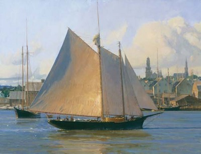 Afternoon Arrival, Gloucester- Signed By The Artist – CanvasGiclee – Limited Edition – 75S/N – 19x26
