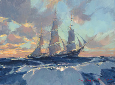 Hard On The Wind- Signed By The Artist – CanvasGiclee – Limited Edition – 75S/N – 9x12