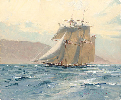 """The Revenue Cutter """"C.W. Lawrence""""- Signed By The Artist – CanvasGiclee – Limited Edition – 100S/N – 10x12"""