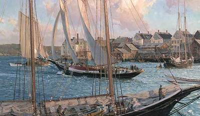 Arthur James Heading Out- Signed By The Artist – PaperLithograph – Limited Edition – 850S/N – 17 3/8x30