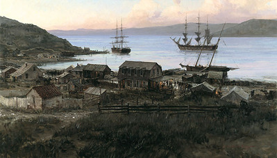 San Francisco On The Eve Of The Gold Rush, 1847- Signed By The Artist – PaperLithograph – Limited Edition – 950S/N – 15 5/8x27 3/4