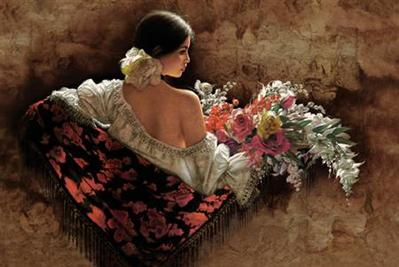 Flores De La Elegancia- Signed By The Artist – CanvasGiclee  – Limited Edition  – 250S/N  –  24x36