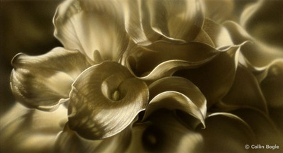 Golden Lilies- Signed By The Artist – PaperGiclee – Limited Edition – 350A/P – 11 1/4x21