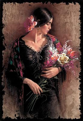 Las Flores- Signed By The Artist – PaperLithograph  – Limited Edition  – 500S/N  –  24x16 1/2