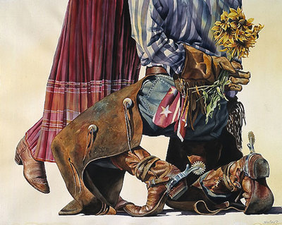 Cowboy Romance- Signed By The Artist – PaperLithograph  – Limited Edition  – 350S/N  –  23 1/4x29  –