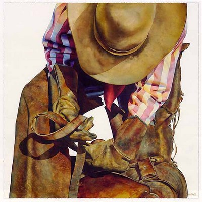 Saddle Straps- Signed By The Artist – PaperLithograph  – Limited Edition  – 550S/N  –  19 1/2x19 1/2