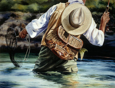 Small River Big Fish- Signed By The Artist – PaperGiclee  – Limited Edition  – 35S/N  –  27x35