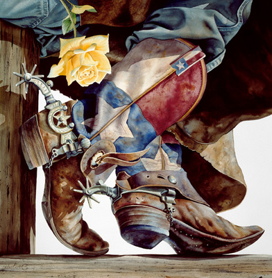 Yellow Rose Of Texas- Signed By The Artist – PaperGiclee  – Limited Edition  – 50S/N  –  34x34