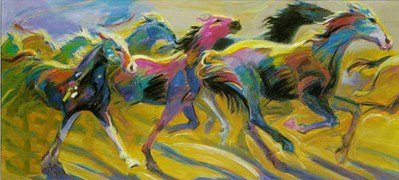 Stampede- Signed By The Artist – CanvasGiclee – Limited Edition – 180S/N – 30x60