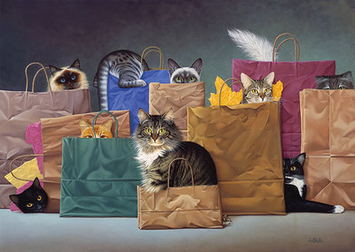 Bag Ladies- Signed By The Artist – CanvasGiclee  – Limited Edition  – 150S/N  –  21x30