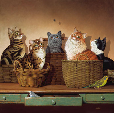Basket Cases- Signed By The Artist – PaperLithograph  – Limited Edition  – 2500S/N  –  23 3/4x23 3/4