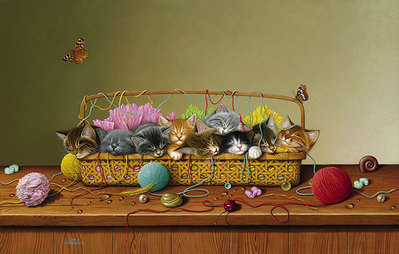 Kitty Litter- Signed By The Artist – CanvasGiclee – Limited Edition – 75S/N – 17x27