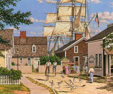 Seaport Wheelman- Signed By The Artist – PaperLithograph  – Limited Edition  – 950S/N  –  12 3/8x15 1/8