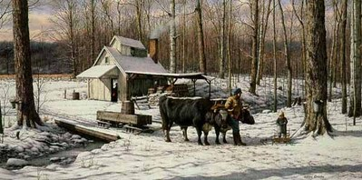 The Sugar Bush- Signed By The Artist – PaperLithograph  – Limited Edition  – 1000S/N  –  13 3/4x27 3/4