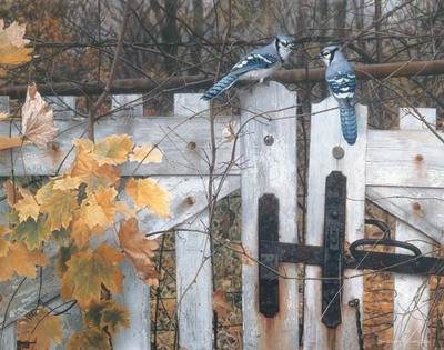 Talk On The Old Fence- Signed By The Artist								 – Canvas Giclee – Limited Edition – A/P – 26 x 33