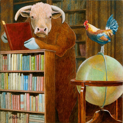 Cock And Bull Story…- Signed By The Artist – CanvasGiclee  – Limited Edition  – 75S/N  –  12x12