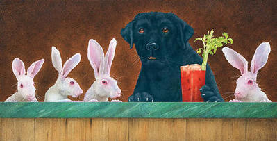 The Hare Of The Dog- Signed By The Artist – CanvasGiclee – Limited Edition – 75S/N – 12x24