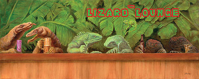 The Lizard Lounge- Signed By The Artist – CanvasGiclee – Limited Edition – 75S/N – 12x30