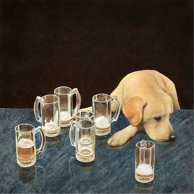 What's That In Dog Beers?- Signed By The Artist – CanvasGiclee – Limited Edition – 75S/N – 14x14
