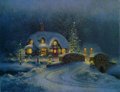 Christmas At Kirby Cottage- Signed By The Artist – CanvasLithograph – Limited Edition – 95S/N – 13x17