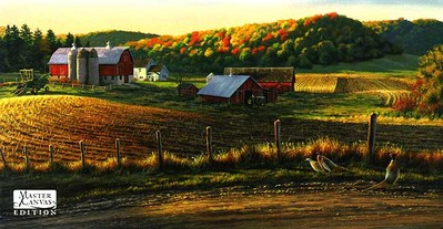 Autumn Harvest- Signed By The Artist – CanvasLithograph  – Limited Edition  – 195S/N  –  16x30