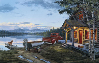 Cabin Fever- Signed By The Artist – CanvasLithograph – Limited Edition – 195S/N – 17x27