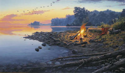 Fireside Point- Signed By The Artist – PaperLithograph  – Limited Edition  – 1250S/N  –  16x28 3/8